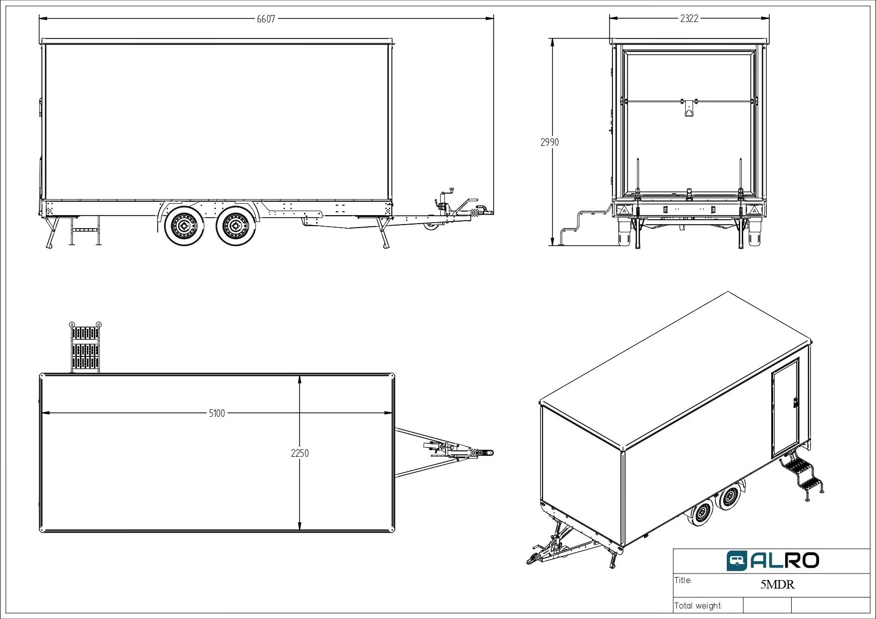 Van trailer 5MDR