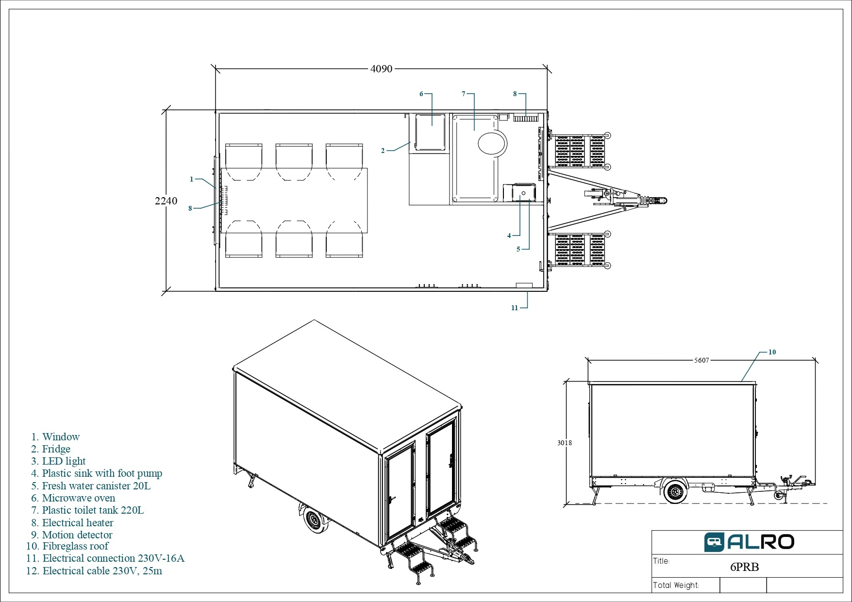 Office trailer 6PRB